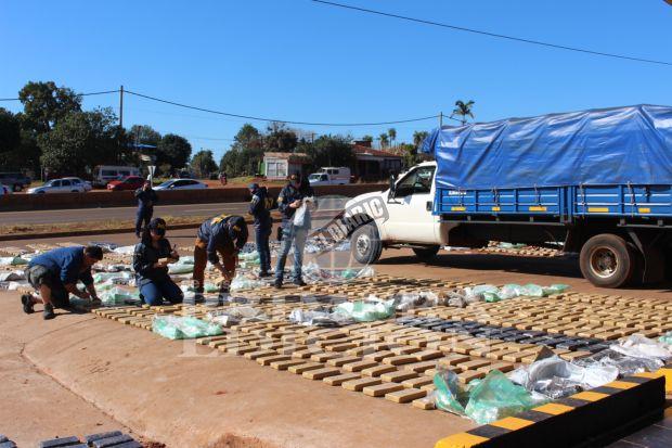 Cinco toneladas de marihuana secuestrada entre Formosa y Misiones