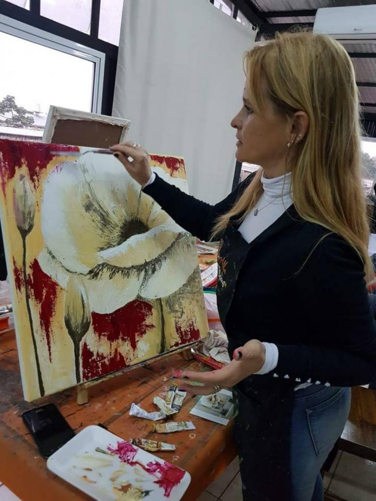 Aprendemos A Pintar Una Flor Con óleo Y Espátula Primera Edición