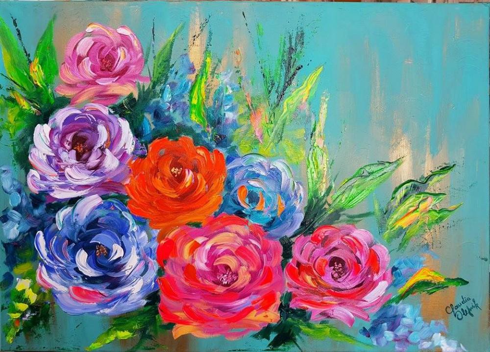 Hoy Se Pintan Rosas Abstractas Primera Edicion