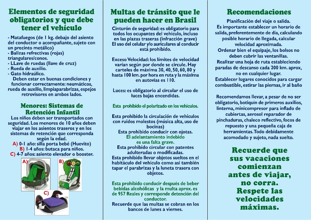2 - Launch recommendations for safe travel to Brazil