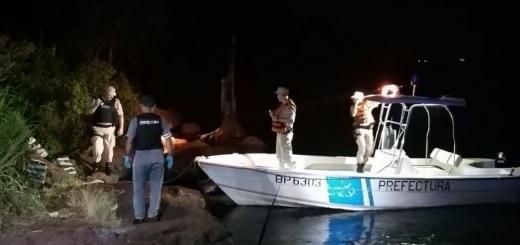Prefectura Naval - en un operativo PNA incautó más de 300 kilos de marihuana en Posadas
