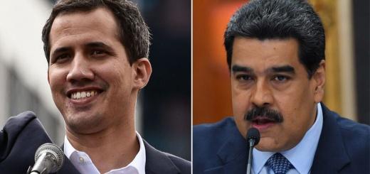 Venezuela - Juan Guaido y Nicolas Maduro