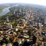 foz do iguazú - vista aérea de la ciudad de Foz do Iguazú